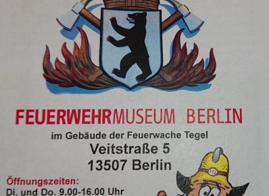 Plakat Feuerwehrmuseum Berlin-Tegel (Foto: Birgit Leuthold)