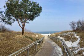 Zum Strand im Winter