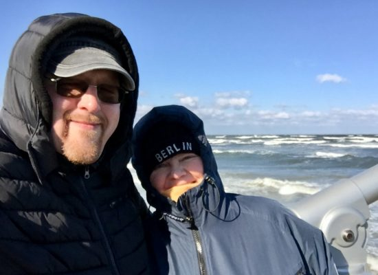 Franky von Tide & Birgit Leuthold am Strand von Ahlbeck