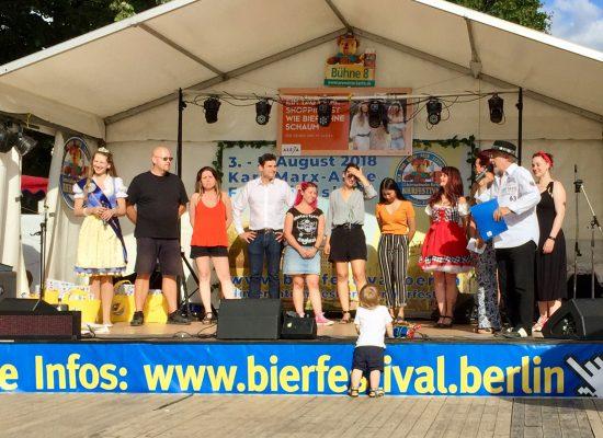 Preisverleihung beim 22. Internationales Bierfestival in Berlin