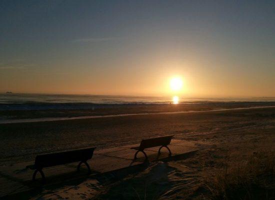 winterlicher Sonnenaufgang in Ahlbeck