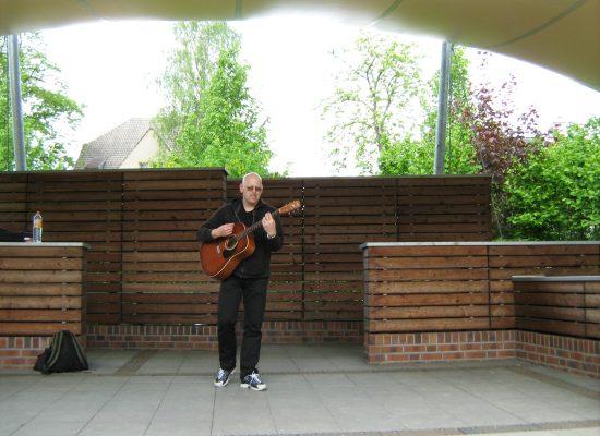 spontanes Konzert im Kurpark von Bad Schmiedeberg