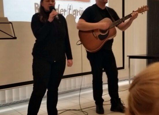 Franky von Tide & Birgit Leuthold bei der offiziellen Eröffnungsfeier der neuen Vereinsräume des MHL