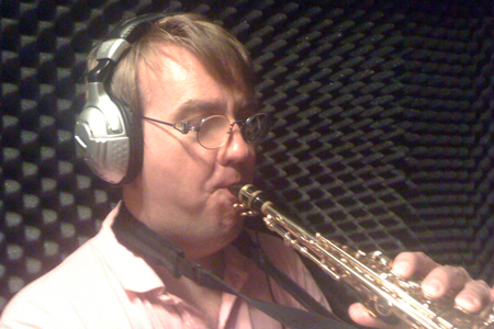 Sebastian Martin als Saxophonist