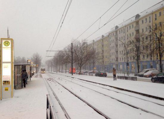Berlin zeigt sich winterlich
