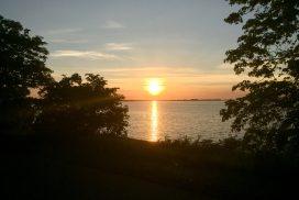Sonnenuntergang auf der Insel Riems
