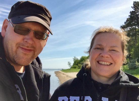 Franky von Tide & Birgit Leuthold auf der Insel Riems
